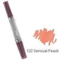 Wet 'n' Wild Perfect Pair Lip Wand, Sensual Peach 122