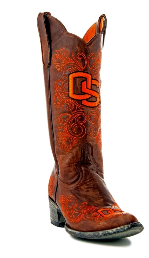 Gameday Boots Womens College Oregon State Beavers Brass ORS-L045-1 by Gameday Boots