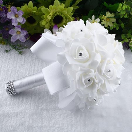 Flower Bridal Bride Wedding Bouquet Bridesmaid Banquet Home Room (Small Flower Bouquet)