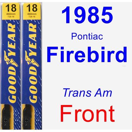 1985 Pontiac Firebird (Trans Am) Wiper Blade Set/Kit (Front) (2 Blades) - Premium