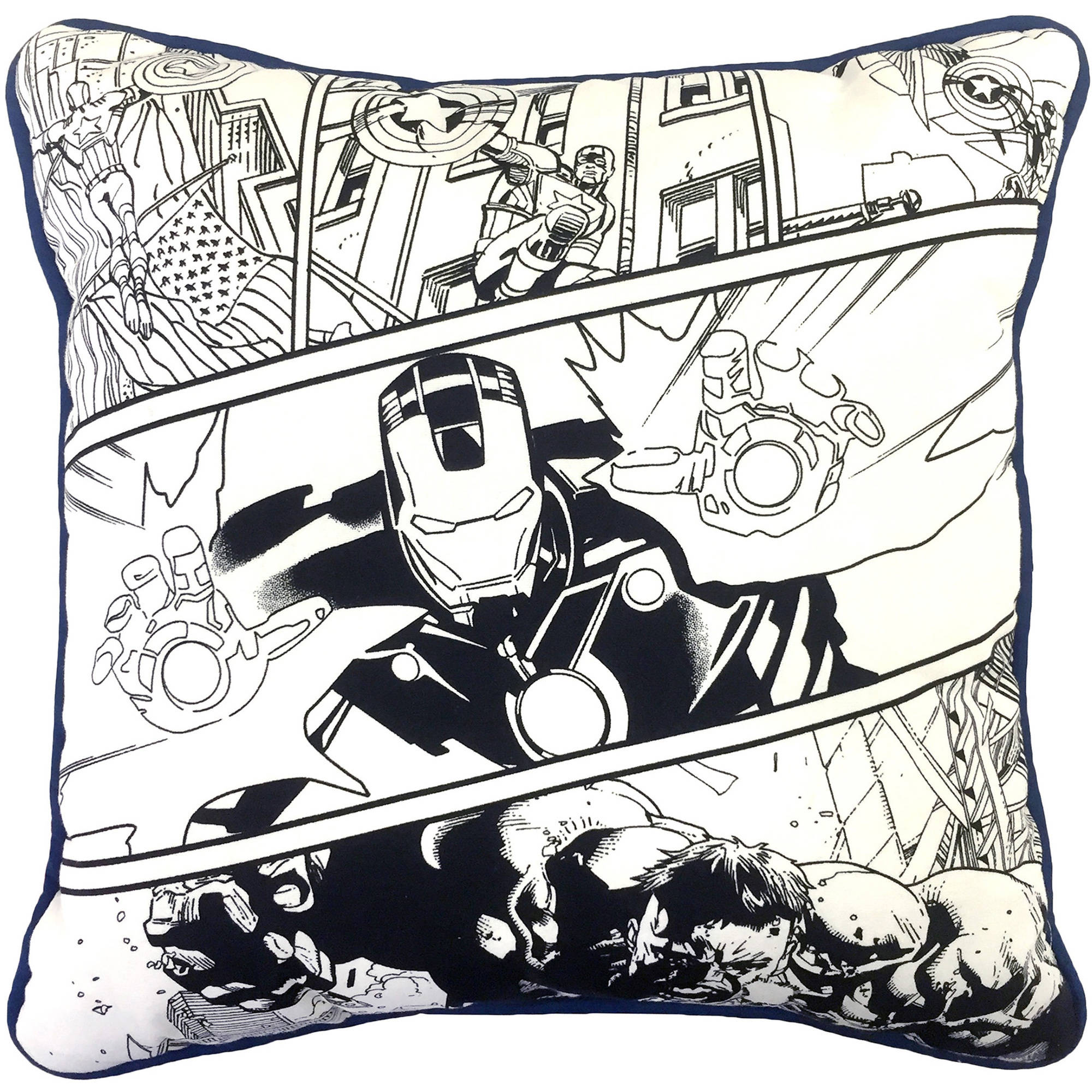 Avengers Team Break Color Me Pillow
