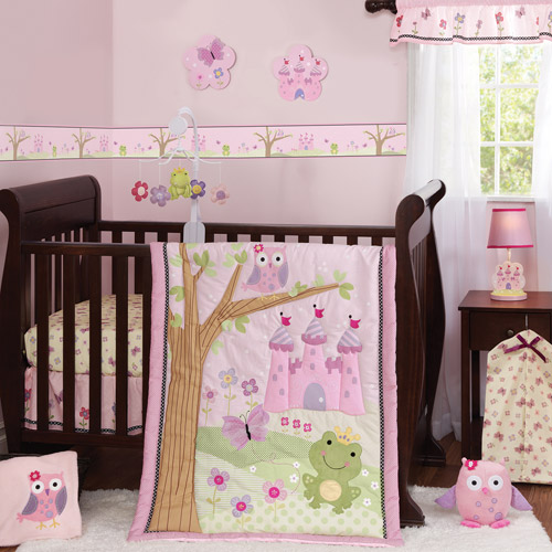 Bedtime Originals by Lambs & Ivy - Magic Kingdom 3-Piece Crib Bedding Set, Pink