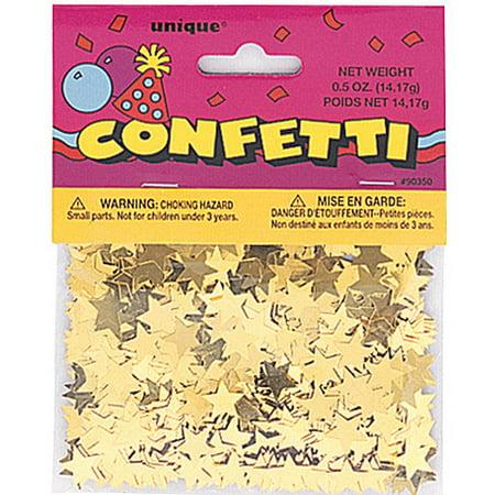 (2 pack) Foil Star Confetti, Gold, 0.5 oz