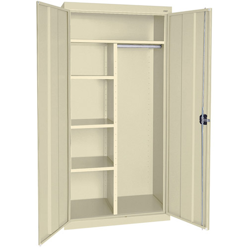 "Elite Series Combination Cabinet with Adjustable Shelves, 36""W x 18""D x 72""H, Putty"