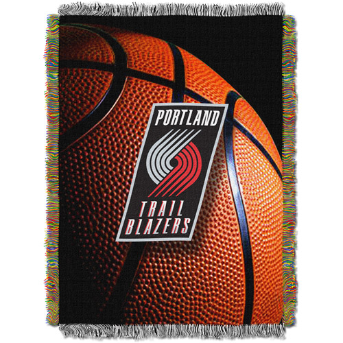 "NBA 48"" x 60"" Photo Real Series Tapestry Throw, Trailblazers"
