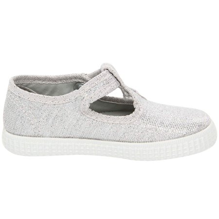 Cienta Kids Shoes 51000 (Infant/Toddler/Little Kid/Big Kid) Silver Light Brown Suede Footwear