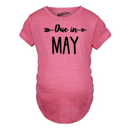 Maternity Due In May Funny T shirts Pregnant Shirts Announce Pregnancy Month Shirt](Halloween Announce Pregnancy)