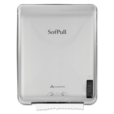 Georgia Pacific SofPull Recessed Mechanical Towel Dispenser, Stainless Steel, 15 x 10 x 18