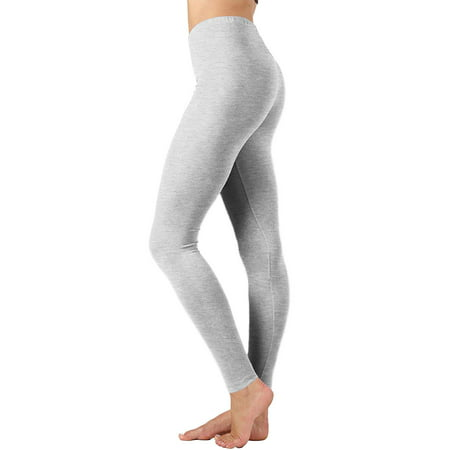 353ed901fa1547 TheLovely - Women Premium Cotton High Waist Full Length Leggings - Walmart .com