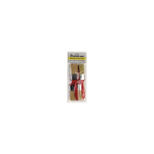 HelpingHand 4 Piece Paint Brush Value Pack 30400  (Set of 3)