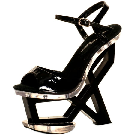 The Highest Heel ASTONISH-11 Womens Black Patent 7