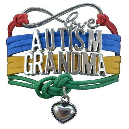 Autism Grandma Bracelet, Autism Awareness Jewelry, Autism Puzzle Piece Bracelet Makes the Perfect Gift