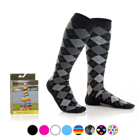newzill compression socks (1 pair), men & women running socks - best graduated athletic fit for sports, nurses, shin splints, maternity & flight travel vibe (Best Socks For Nurses)