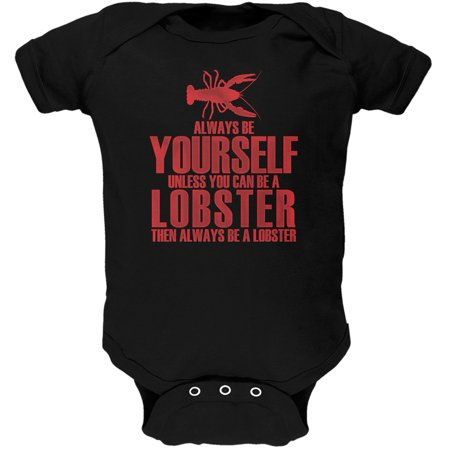 Always Be Yourself Lobster Black Soft Baby One Piece - 18 month