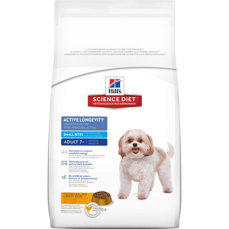 Hill's Science Diet (Get $5 back for every $20 spent) Adult 7+ Active Longevity Small Bites Chicken Meal Rice & Barley Recipe Dry Dog Food, 5 lb bag