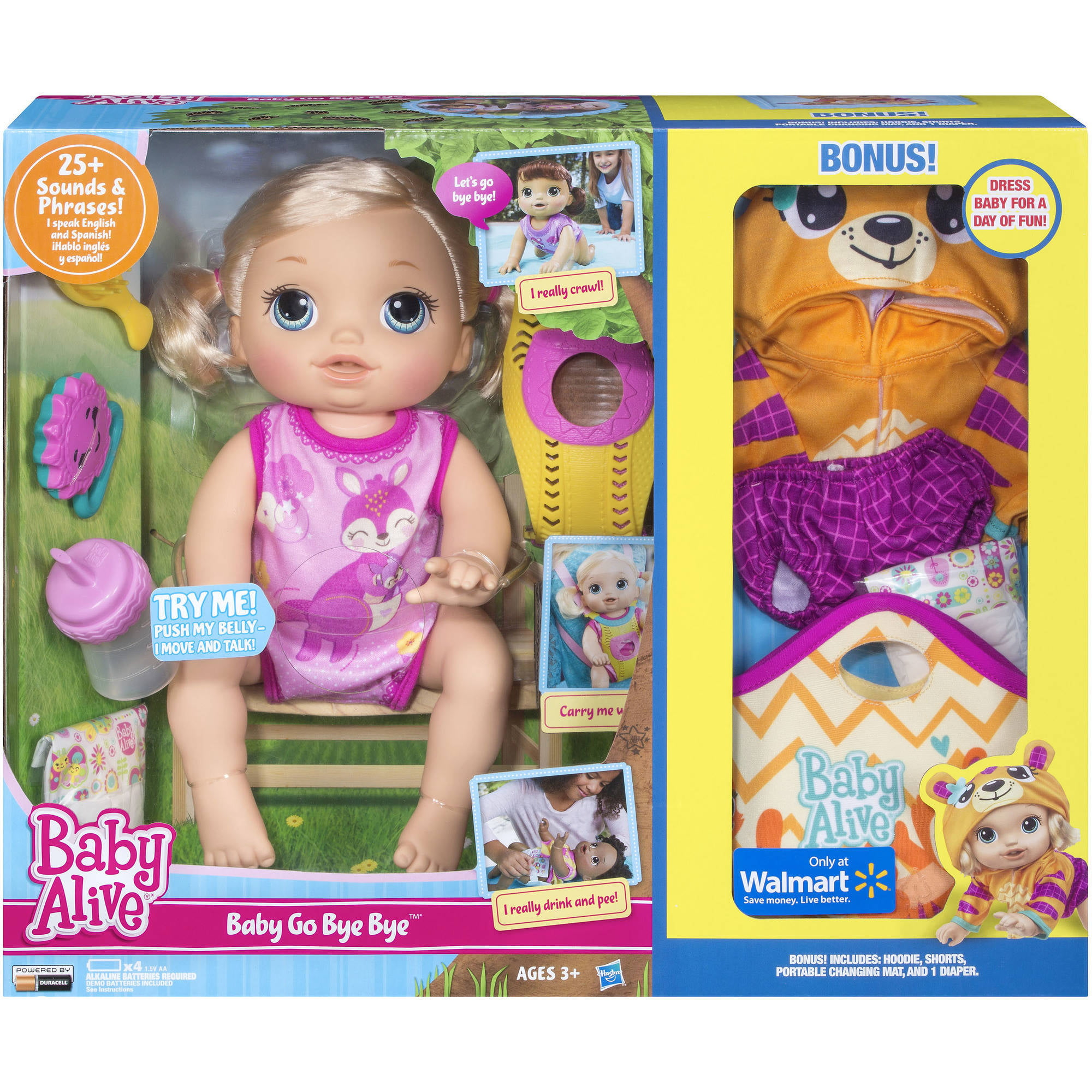 Cool Toys For Girls Baby Alive Go Bye Bye Doll Speech