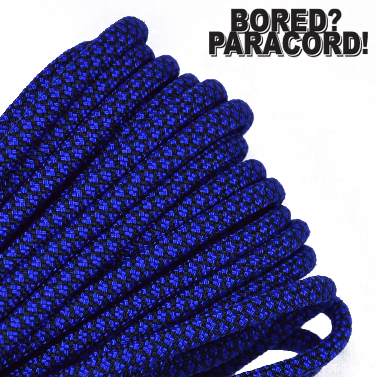 Bored Paracord Brand 550 lb Type III Paracord - Electric Blue Diamonds 100 Feet