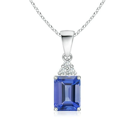 emerald tanzanite aa set necklaces necklace in silver diamonds carat sl cut birthstone ip december pendant with prongs sterling accent