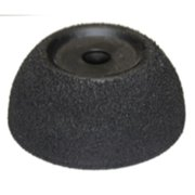 "The Main Resource TI4295 Black Flared Contour Wheel [60 Grit] 2 1/2"", Ah 3/8"""