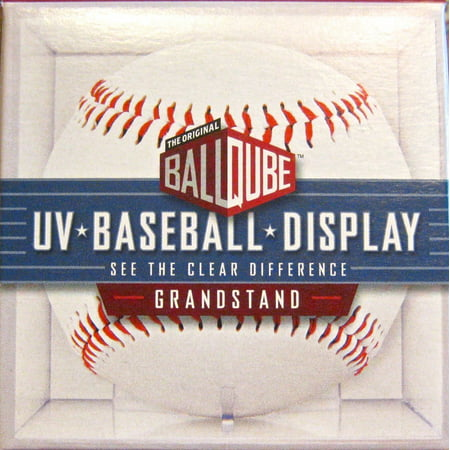 Ball Qube Baseball Display Case With Uv (Baseball Display Cube)