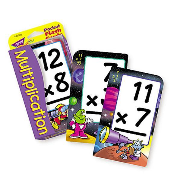 TREND ENTERPRISES T-23006 POCKET FLASH CARDS MULTIPLICATION-3 X 5 56 TWO-SIDED CARDS - image 1 de 1