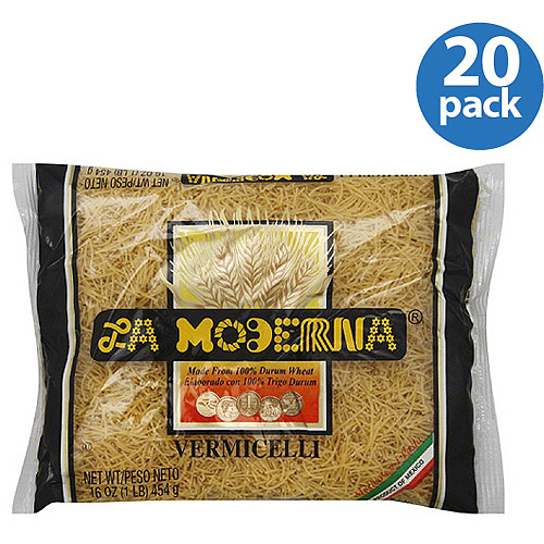 La Moderna Vermicelli Pasta, 16 oz, (Pack of 20)