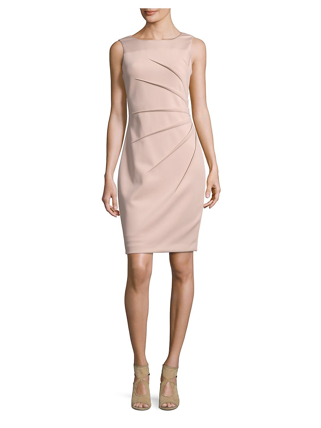 Pleated Sheath Dress