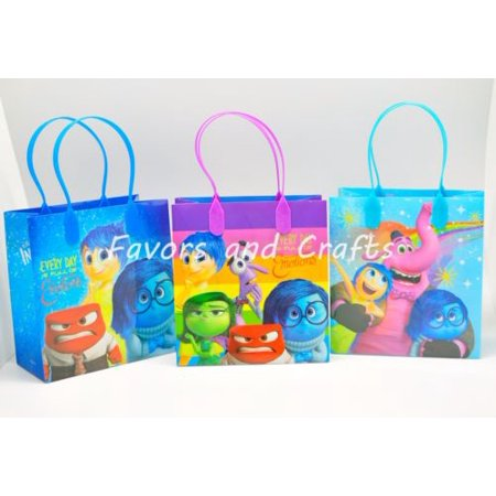 12 Inside Out Party Favor Bags Birthday Candy Treat Favors Gifts Plastic Bolsas De - Inside Party City
