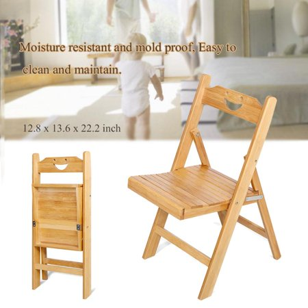 OTVIAP Bamboo Folding Chair,Portable Bamboo Folding Chair, Foldable Desk Chair and Seat for Indoor / Outdoor