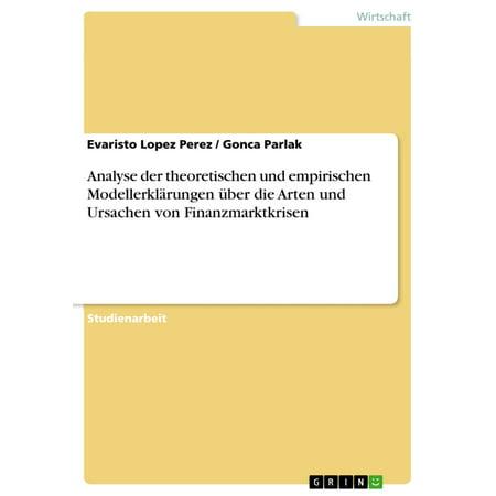 Analyse der theoretischen und empirischen Modellerklärungen über die Arten und Ursachen von Finanzmarktkrisen - eBook (Arten Von Brillen-rahmen Für Männer)