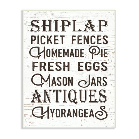 The Stupell Home Decor Collection The Best Rustic Things Farmhouse Typography Oversized Wall Plaque