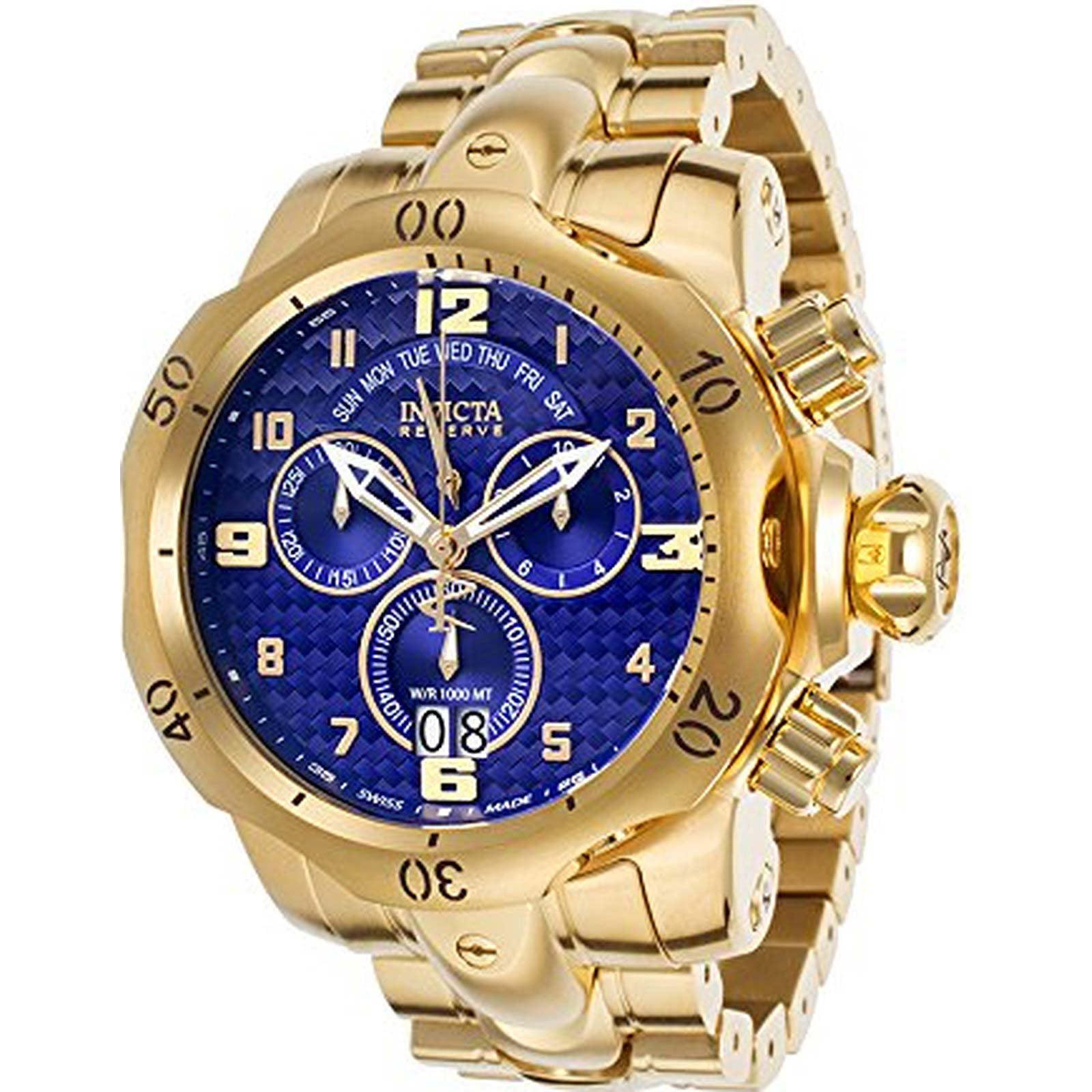 Invicta Men's 17635 Venom Quartz Chronograph Blue Dial Watch
