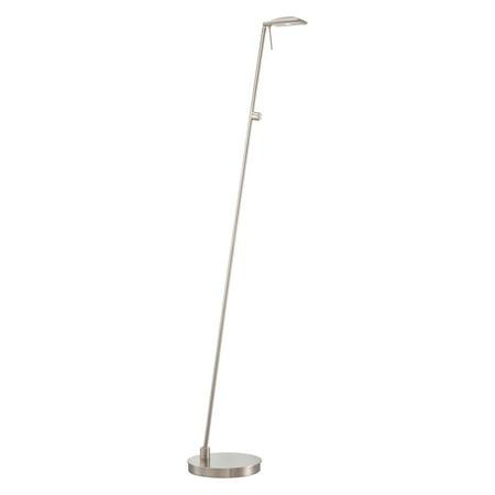 George Kovacs Nickel Floor Lamp (George Kovacs Task Portables 1-Light Pharmacy Floor Lamp - Brushed Nickel )