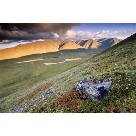 Rock And Alpine Tundra Near The Alatna River Headwaters In Gates Of The Arctic National Park   Preserve Arctic Alaska Fall Canvas Art   Carl Johnson  Design Pics  34 X 22