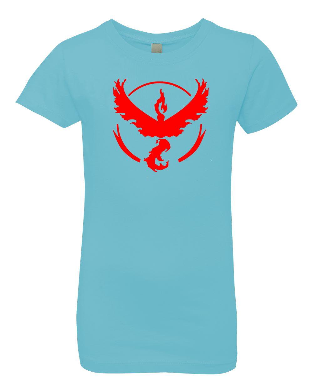Pokemon Go Gym Team Valor Red Youth Girls Princess Tee T-Shirt Top