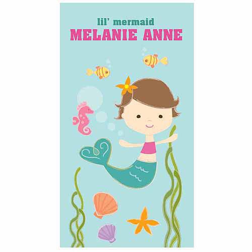 Lil' Mermaid Personalized Towel