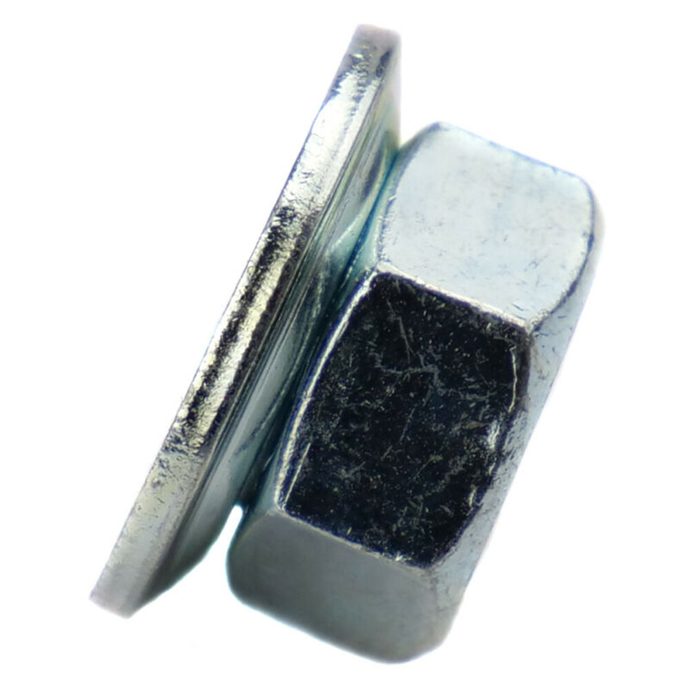 M8x1.25 LH Left Hand Thread Flanged Blade Screw Nut for Trimmer Brushcutter