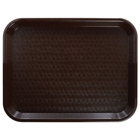 """HUBERT Fast Food Tray Cafeteria Tray Brown Polypropylene - 14"""" L x 10"""" W Case of 24"""