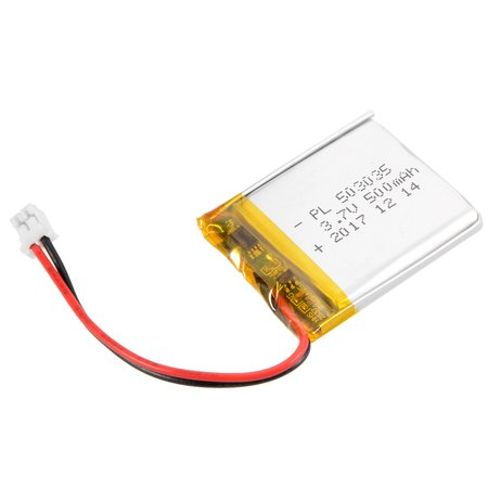 Power Supply DC 3.7V 500mAh 503035 Rechargeable Lithium Polymer Li-Po Battery