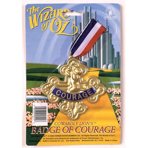 """4"""" x 4"""" Badge of Courage Halloween Prop"""