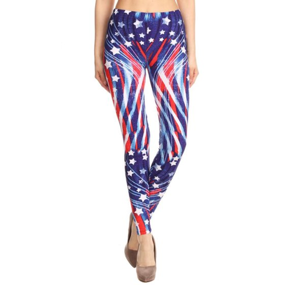 44ececee67aac Fourever Funky - Patriotic Stars Abstract Swirls American Flag ...