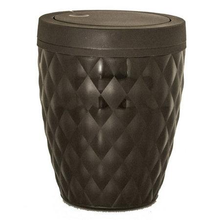 Superio Round Trash Can 6.5 Qt (Brown)