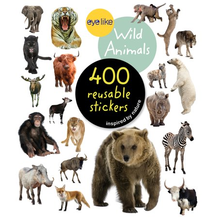 Eyelike Stickers: Wild Animals - Paperback