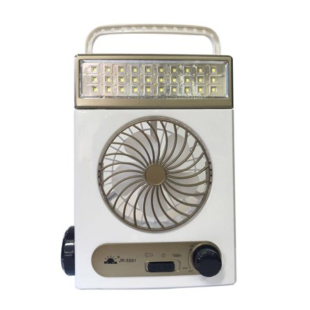 Top Knobs Solar Fan Camping Fan Cooling Table Fans 3 in 1 Multi-Function with Eye-Care LED Table Lamp Flashlight for Home Use Camping