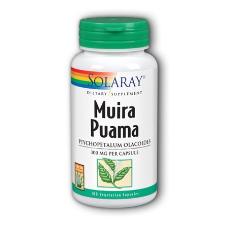 (Solaray Muira Puama Root 300 mg Capsules, 100 Ct)
