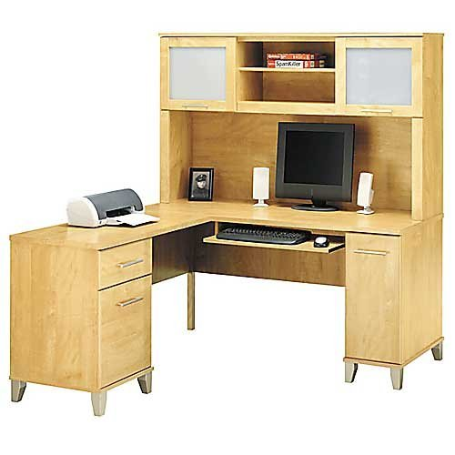 Bush Somerset 60 Inch Computer Desk With Optional Hutch