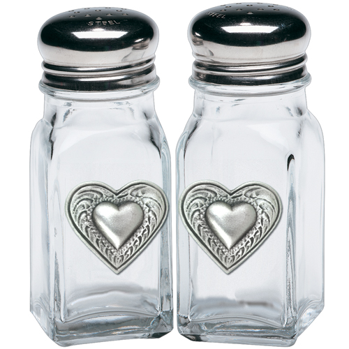 Heart Salt & Pepper Shakers