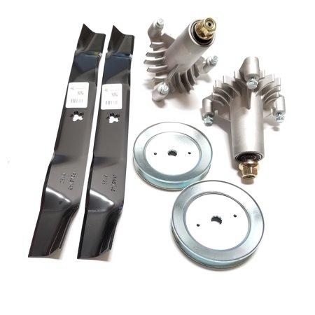 "Raisman LT1000 42"" Deck Rebuild Kit Replaces 130794 Deck Spindles, 134149 Mulching Blades, 129861 Pulleys"