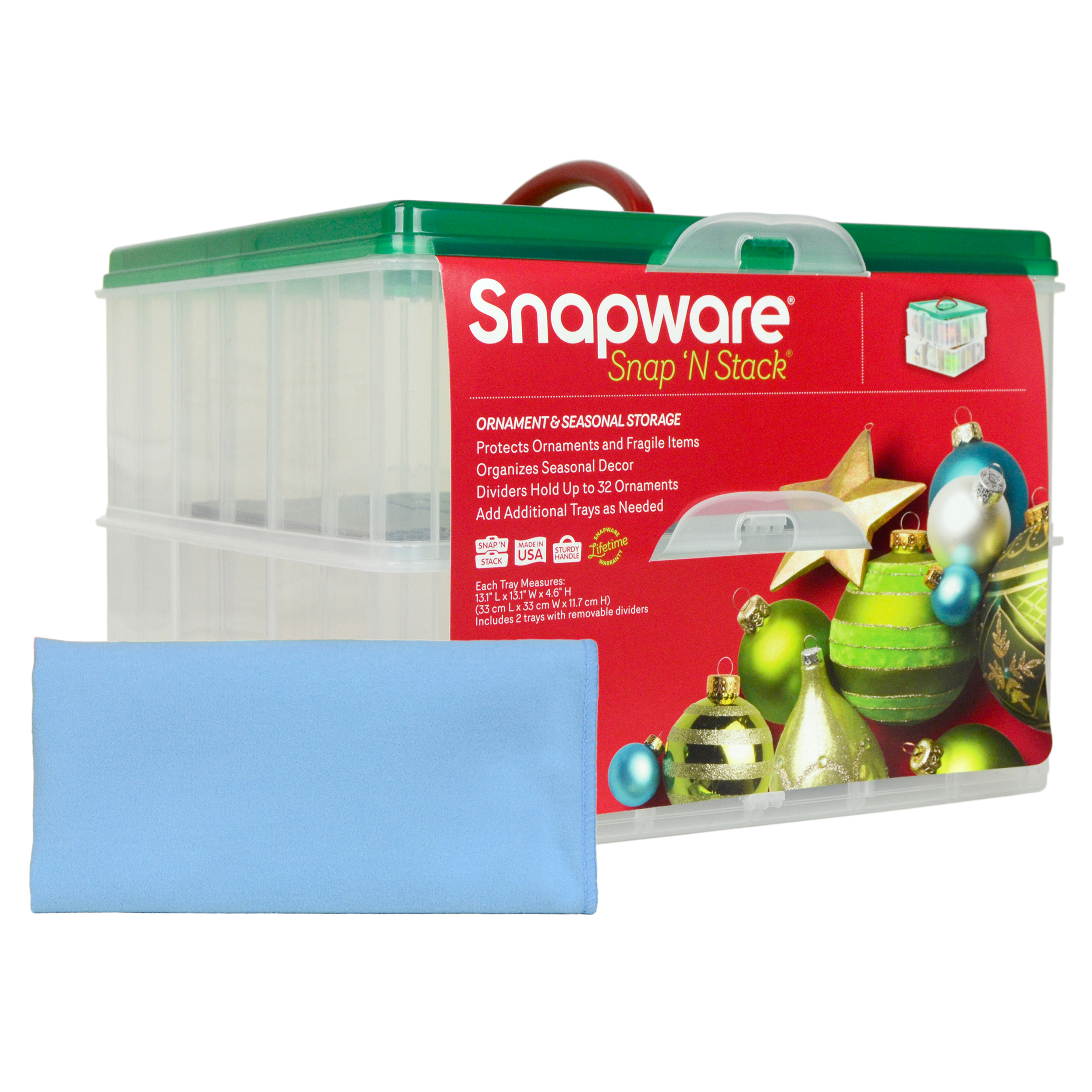 Snapware 2-Layer Christmas Ornament Keeper (4-Pack) + 4 M...