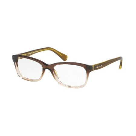 Coach 0HC6089 Optical Full Rim Rectangle Womens Eyeglasses - Size 49 (Olive/Brown Gradient / (See Through Eyeglasses)